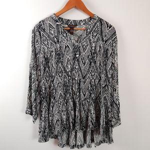 Bit & Bridle southwestern boho swing style blouse